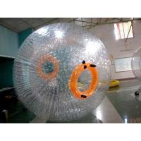 Buy cheap Recreational TPU Inflatable Grass Zorb , Orange 3m Diameter Soccer Zorb Ball from wholesalers