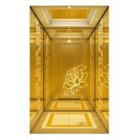 Buy cheap CE Certificate Passenger Elevator with Titanium Mirror and Titanium Mirror Etching Stainless Steel Car Wall from wholesalers