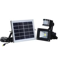 Buy cheap Outdoor 10W Solar Powered LED Security Flood Light With PIR Motion Sensor from wholesalers