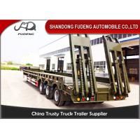 Buy cheap Low platform truck trailer low loader semi trailer 3 axle 50 ton from wholesalers