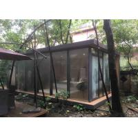 Buy cheap High-Grade Tempered Glass Mobile Home Wooden Interior Luxury Villa from wholesalers
