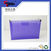 Buy cheap OEM Stationery Office PP Custom Document Bag With Pocket Translucent Plastic Zipper File Bag from wholesalers