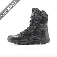 Buy cheap CQB.SWAT Genuine Leather Detal Zipper Mens Boots Army Combat Boot from wholesalers