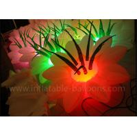 Buy cheap Double Sewing Inflatable LED Lighted Flowers With Ballons Vivid 1.5m Diameter from wholesalers
