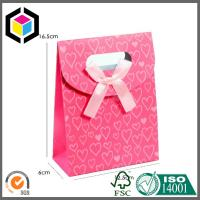 Buy cheap Red Color Printing Tab Top Paper Bag with Hidden Velcro; Sharp Top Tent Bag from wholesalers