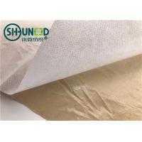 Buy cheap Eco Friendly Fusible Non Woven Interlining Fabric With Yellow Adhesive Release Paper from wholesalers