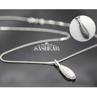 Buy cheap Pendent Gemstone 18 Inch White Gold Silver 925 Sterling Silver Value for Promotion Gifts from wholesalers