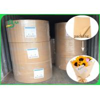 Buy cheap Pure Color Waterproof And Anti - Oil Brown Kraft Liner Paper For DIY Flowers Packing from wholesalers