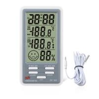 China LCD Screen Digital Thermometer Hygrometer Temperature Humidity Meter Alarm Clock on sale