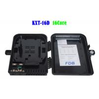 Buy cheap Black Fiber Optic Distribution Box , Fiber Optic Enclosures Wall Mount from wholesalers