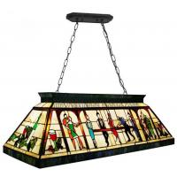 Buy cheap Rectangle Mediterranean style KTV Pub Bar Club Decoration Tiffany Lamps Pendant Lights from wholesalers