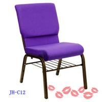 China Purple Church Chair With Book Shelf on sale