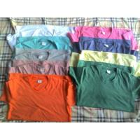 Buy cheap 65,500 piece cheap price women's Solid color Tees shirt 1 style 11 colors full size stock from wholesalers