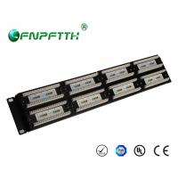 Buy cheap 19 Inch 1U UTP Cat5e 48port Patch Panel , wall mount ethernet patch panel from wholesalers