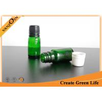 Buy cheap 10ml Reusable Green Colored Essential Oil Glass Bottles Wholesale With Dropper Cap from wholesalers