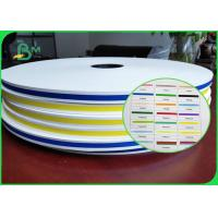 Buy cheap Diameter 550m 60gsm Striped Printing Straw Paper FDA Green Brown Black from wholesalers