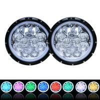Buy cheap 60W 5D RGB 7 inch Headlight, Round LED Headlight with APP Control Multi-Color Bluetooth Remote for Jeep Wrangler product
