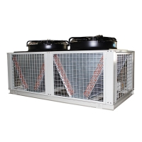 Buy cheap Separated Type Air Condenser Cabinet Water Chiller Convenient Air Cooling Fin On the Rooftop And Chiller Unit Inside from wholesalers