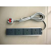 Buy cheap Black UK 4 Socket Electrical Extension Cord , Rack Mount Power Distribution Unit from wholesalers
