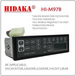 Buy cheap 12V 24V AM FM Excavator Radio Radio control excavator with Bluetooth USB IP6X Din Size Mul product