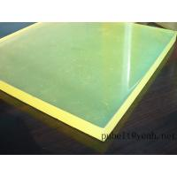 Buy cheap high tear strength PU sheet,colored Anti-abrasion board   little yellow   45A-95A from wholesalers