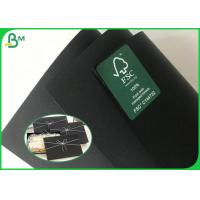China Double Sides Black Book Binding Board / 200G 300G Recycled Black Cardboard With High Stiffness on sale