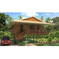 Buy cheap Hot-Sale Prefab Light Steel Structure  Holidays Thailand Wooden House Bungalow With 3 Bedrooms from wholesalers