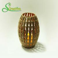 Buy cheap Coffee Color Led Rattan Solar Garden Lights Wicker Candle Lantern Energy Efficient from wholesalers