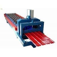 PPGI PPGL Glazed Steel Roof Tile Roll Forming Machine 70mm Shaft Diameter
