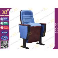 Buy cheap Upholstered Ergonomic High Grade Fold Up Auditorium Seating / Movie Theater Chairs from wholesalers