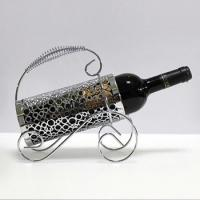 Buy cheap home design wrought iron metal wine bottle holder from wholesalers