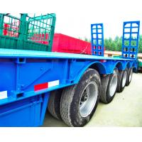 Buy cheap 80 Tons 4 Axles Low Bed Semi Trailer 12 Pcs Tyre 11.00R20 Tyre Model from wholesalers