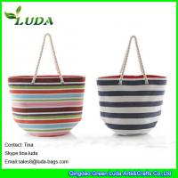 Buy cheap LUDA colorful paper straw handbags striped extra large beach bags from wholesalers