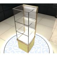 Buy cheap Perfume Cosmetics Bangle Jewelry Glass Display Shelves Retail With 3 Layers from wholesalers
