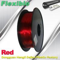 Buy cheap Professional Eco Friendly Flexible( TPU )  Red 3D Printer Filament 1.75mm product