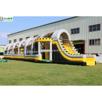 Buy cheap 24m Long Adult Inflatable Obstacle Course / Bounce House for Interactive Challenge from wholesalers