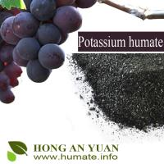 Buy cheap 98% Water Solubility Potassium Humate Shiny Flake / Powder Humic Acid Type Organic Fertilizer from wholesalers