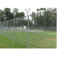 Buy cheap Commercial Chain Link Fence 8 Foot Sliver Color With EC / ISO9000 Certificate from wholesalers