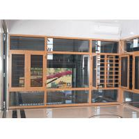 Buy cheap Yellow Brown Aluminium Frame Glass Window And Doors Air Proof Flush Design from wholesalers