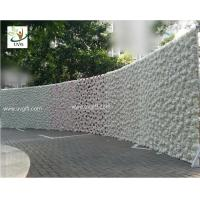Buy cheap UVG 2.5m curved big fake flower wall wedding backdrops in silk rose and hydrangea for sale from wholesalers