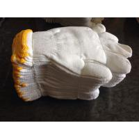 Buy cheap Cotton working gloves,knitted gloves,bleached white color from wholesalers