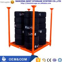 Buy cheap ISO CE Industrial Warehouse Storage Collapsible more Level Heavy Duty Metal storage tire Rack / Tyre Rack from wholesalers
