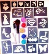 Buy cheap Body Art Temporary Glitter Tattoo Kit with 12 Colors Tattoo Ink from wholesalers