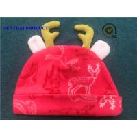 Buy cheap Red Baby Bibs And Hats 100% Microfleece Newborn Baby Hats With Stuffed Ears from wholesalers