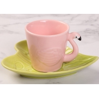 Buy cheap Hotel Stain Resistant 130ml Plate Flamingo Tea Set product