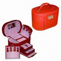 Buy cheap Leather Jewelry Box for Necklace, Earrings and Rings, Available in Various Colors from wholesalers
