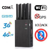 Buy cheap Portable Cell Phone Jammer High-Power 8 Band Switch Control  LTE CDMA GSM WiFi GPS Jammer Mobile Signal Jammer from wholesalers