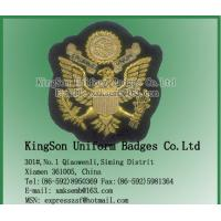 Buy cheap Eagle Badge,Hand embroidery badge,Wire badge from wholesalers