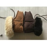 Buy cheap 100% Handmade 15cm Real Sheepskin Wool Baby Booties For Outdoor from wholesalers