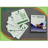 Buy cheap Sterile Paraffin Gauze Dressing Swabs , Wound Care Vaseline Gauze Dressing from wholesalers